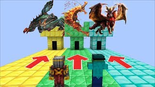 DON'T ENTER THE WRONG DANGEROUS CASTLE MADE OUT OF DIAMOND GOLD AND EMERALD !! Minecraft Mods