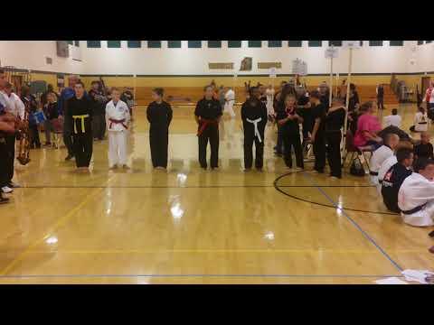 Jessica wins kata 15-17 years old Wawasee middle school 2016