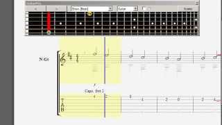 Canon in D guitar tab - Trace Bundy version