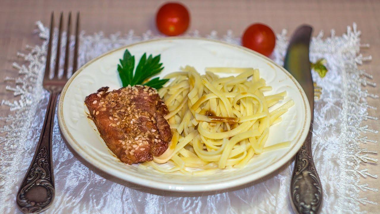 мясо в соевом соусе в духовке с картошкой