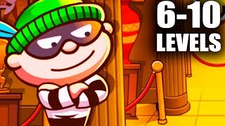 Bob The Robber 4 (6-10 Level Walkthrough) Android GamePlay FullHD #2
