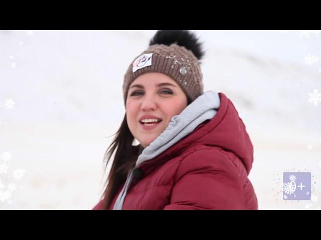 ОРТ поздравляет с Новым годом.  Сноуборд