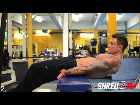 Dumbbells 247 Gym in North Bergen NJ Body Builder Alex Turner trains Abdominal Exercise