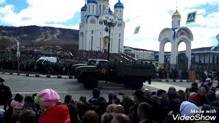 Парад в Южно Сахалинске С Днём Победы