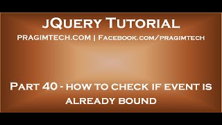 jQuery how to check if event is already bound