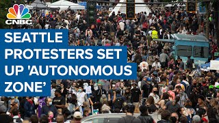 Seattle protesters set up 'autonomous zone' — Here's what it's like
