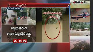 Deers being washed away due to Heavy floods in Kerala