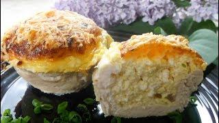 Сочное Куриное Филе с Сыром и Творогом в Духовке