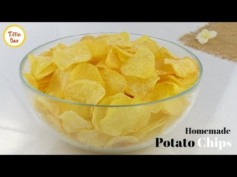 Homemade Crispy Potato Chips By Tiffin Box For Kids | Quick And Easy Aloo Chips Recipe | Wafers