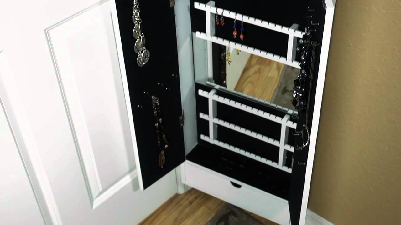 Cabidor Jewelry Storage Cabinet Behind The Door Storage