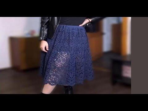 Вязание крючком юбок для женщин со схемами