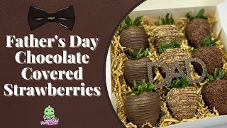 Easy Father's Day Chocolate Covered Strawberries
