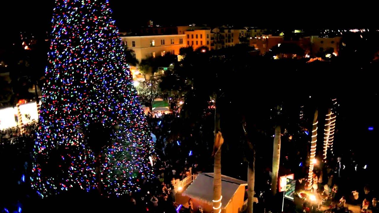 delray beach tree lighting. Delray Beach 100 Ft. Christmas Tree Lighting H