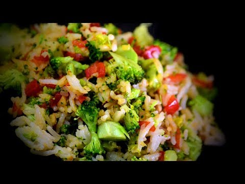Chinese Broccoli Fried Rice (Chinese Style Cooking Recipe)
