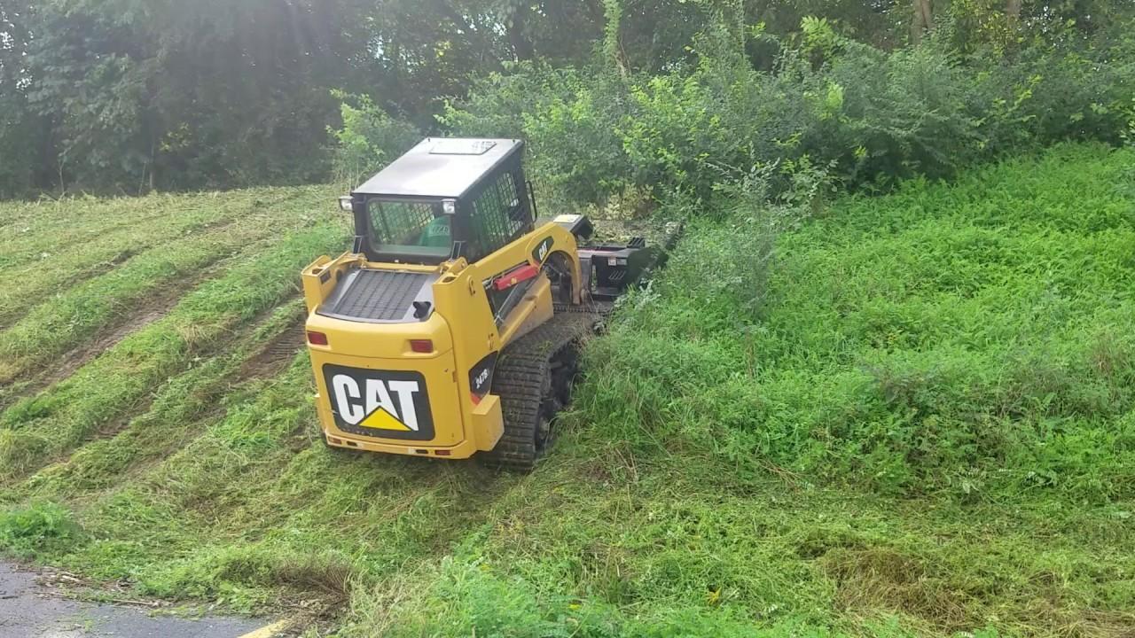 Track Cat Bush Hog Steep Incline Youtube