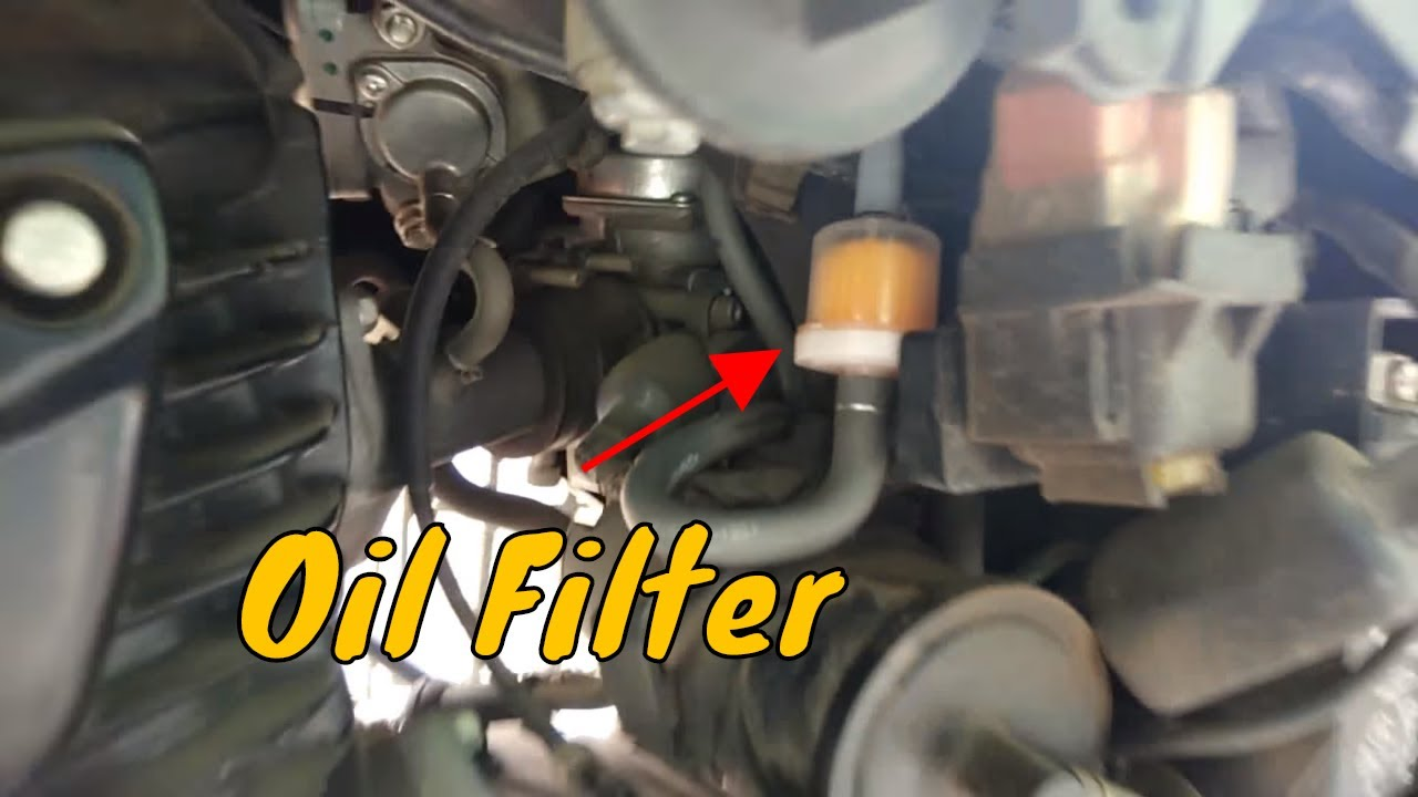medium resolution of installing fuel filter oil filter for any motorcycle scooter hornet 160r explained