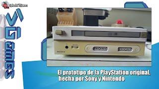 El prototipo de la PlayStation original,  hecha por Sony y Nintendo