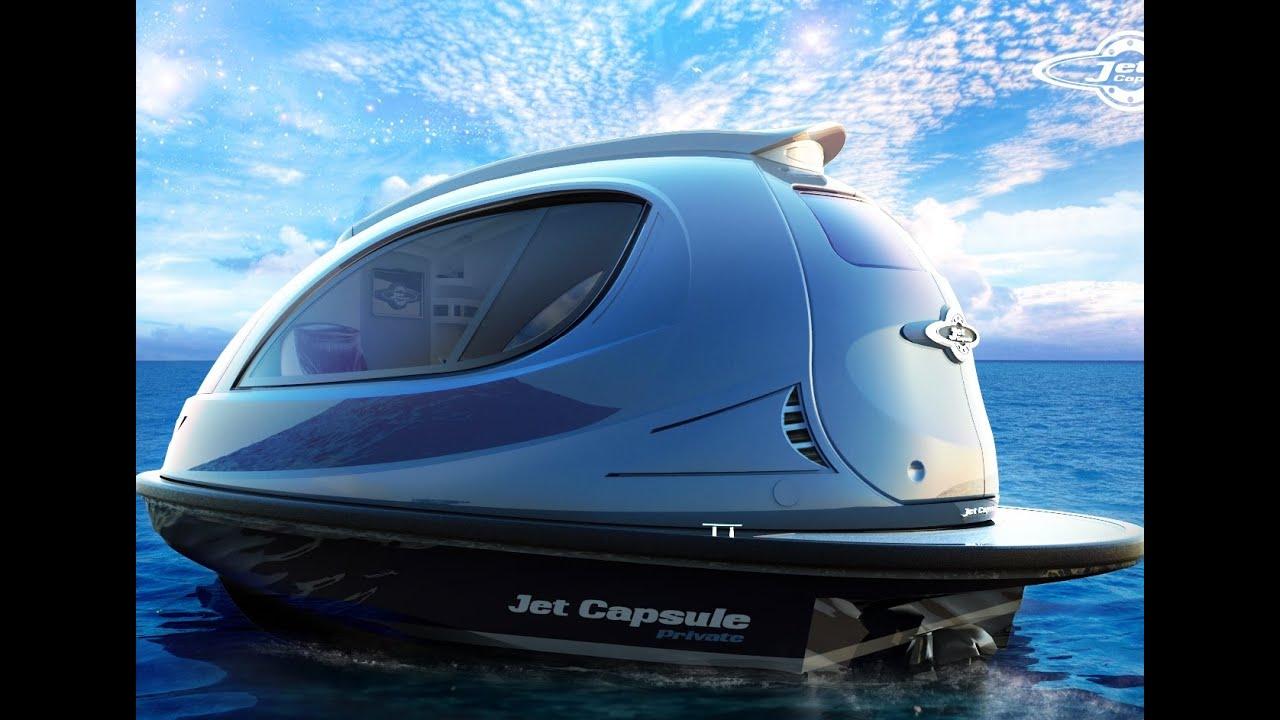 Worlds Smallest Luxury Yacht Jet Capsule Youtube
