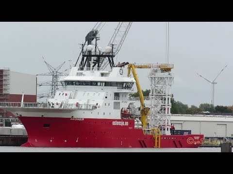 offshore research & survey vessel SUN ENABLER LARF7 IMO 9489651 Emden