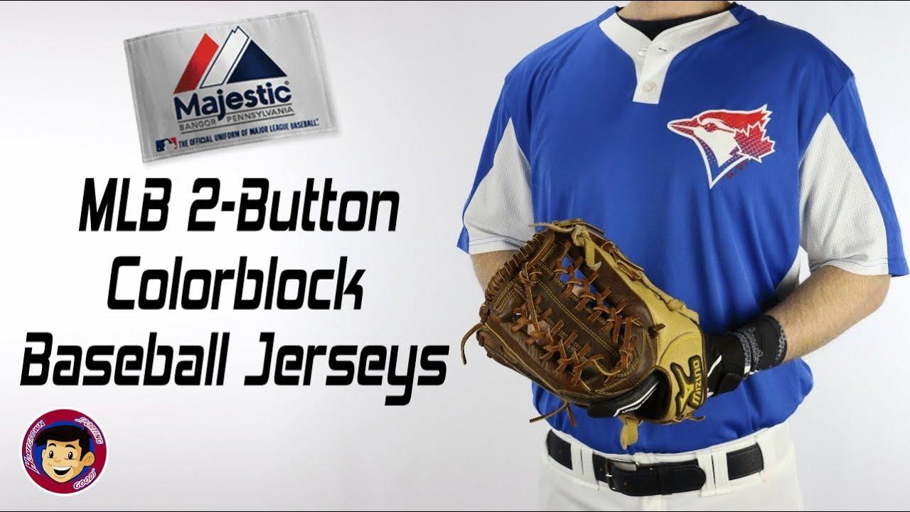 7dd90350 Majestic I383 Replica MLB Two Button Baseball Jerseys - Homegrown Sporting  Goods
