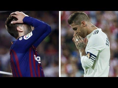 El clásico: Gerard Piqué vs Sergio Ramos