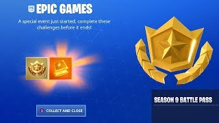 I Got OVERTIME Challenges and FREE SEASON 9 BATTLE PASS? in Fortnite Battle Royale!