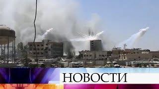 Международная коалиция во главе с США применила в Сирии кассетные бомбы.