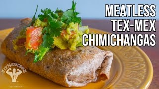 Meatless Tex-mex Chimichanga Recipe / Chimichangas Sin Carne Horneadas