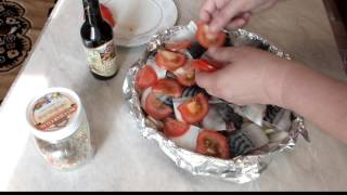 Скумбрия свежемороженая, запеченная в духовке с картошкой рецепт