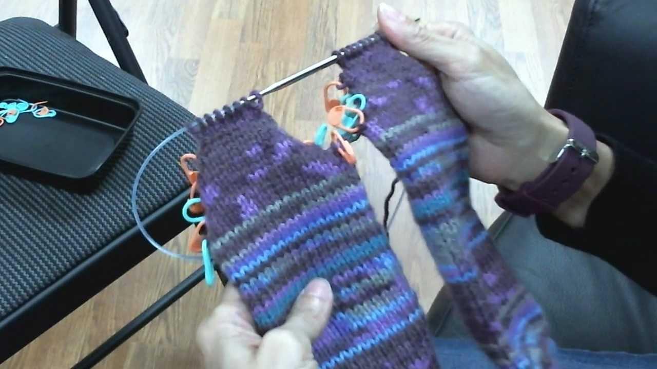 Toe-Up Socks on Circular Knitting Needles - Turning the Heel ...