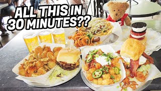 Fully Loaded Roundhouse Burger Challenge in Fort Worth, Texas!!