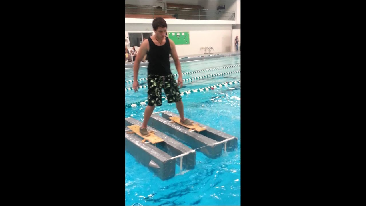 Walking on water shoes = success!! - YouTube