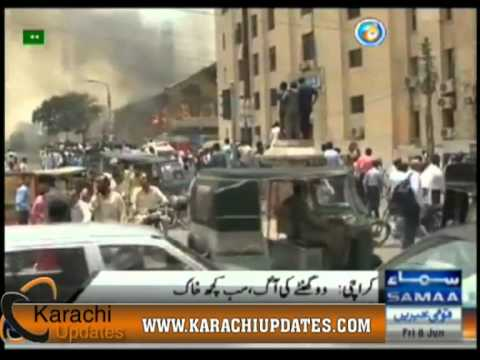 II Chundrigar Road Karachi private company building fire.f4v