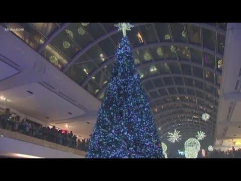 Houston Galleria Lights Up For Christmas
