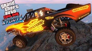 GTA V - TUNNING E TEST TROPHY TRUCK - SUBINDO AS MONTANHAS - GTA Online Cunning Stunts