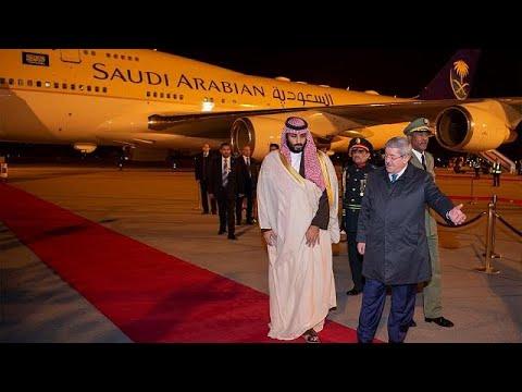 Saudi Crown Prince Bin Salman arrives in Algeria
