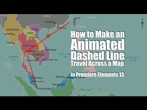How to Animate a Traveling Dotted Line | Adobe Premiere Elements Training #17 | VIDEOLANE.COM