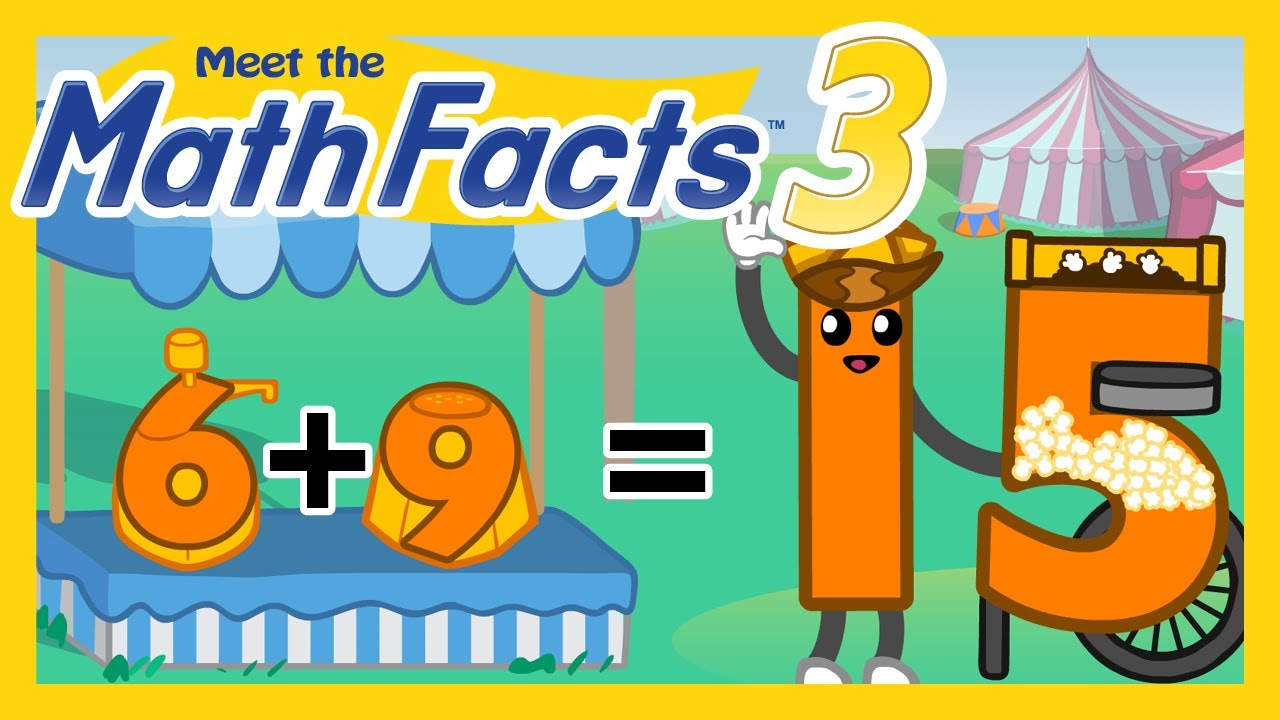 Meet the Math Facts Level 3 - 6+9=15 - YouTube