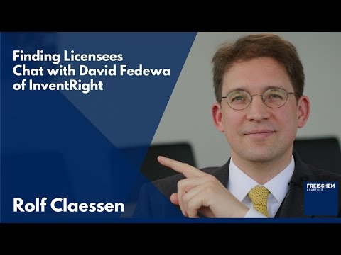 Interview with David Fedewa of InventRight - Licensing Deals for Inventors - PCT