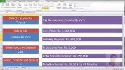 MS-Excel-03 Car Loan Calculator (Level: Advance) Urdu