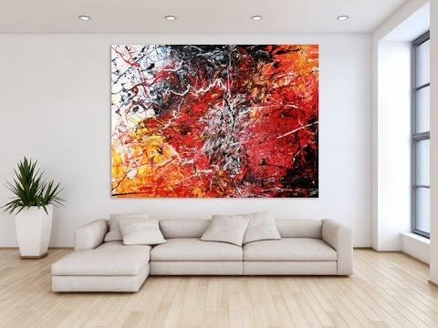 Xxl Art abstract acrylic #168 demo 150x200cm - xxl-art.de - youtube