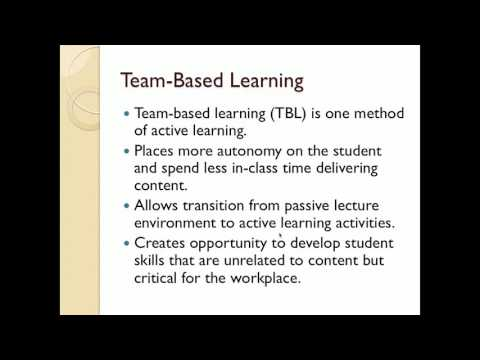 Team Based Learning: Using Teams to Engage Students in Learning