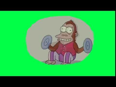 Футаж обезьяна в голове