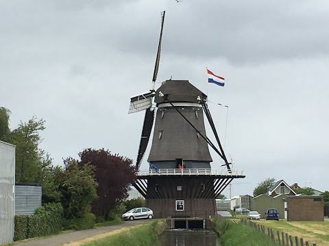 """Traveller: The Netherlands, Hoek van Holland, Windmill """"De Nieuwlandsche molen"""""""