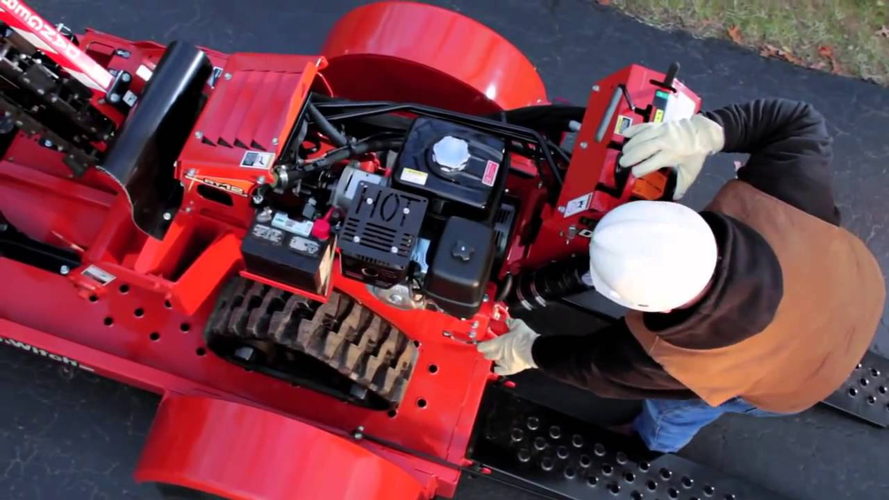 Ditch Witch Walk Behind Trencher Safety Operation