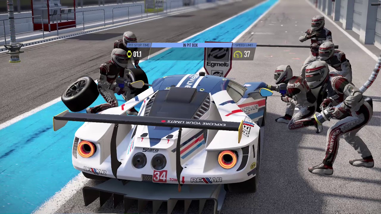 project cars 2 ford gt gte pit stop xbox one s youtube. Black Bedroom Furniture Sets. Home Design Ideas