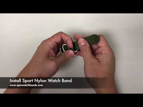 Nylon Watch Bands Installation - Sport Nylon Watch Bands for Apple Watch