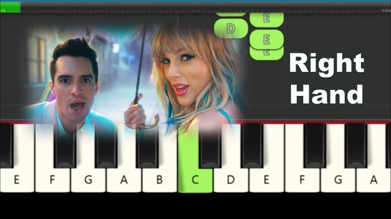 How To Play Melody of Me! by Taylor Swift on Piano - ft. Brendon Urie - Slow, Very Easy Tutorial