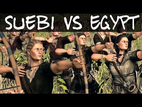 Total War Rome 2 Online Battle 150 Suebi vs Egypt |