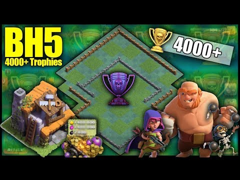 UNBEATABLE BH5 [Builder Hall 5] 4000+ Trophy Base! Anti 1 Star, 5 Wins In A Row! - Clash Of Clans